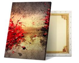 Aanzicht foto op canvas voor- en achterzijde