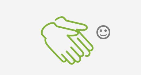Afbeelding gebruik handschoenen bij schoonmaken