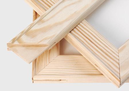 Canvas houten frame aanzicht