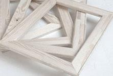 Foto op canvas houten frame