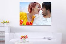 Foto op canvas in woonkamer