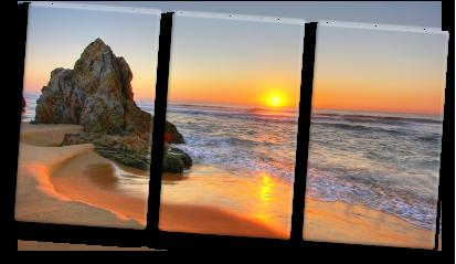 Foto op canvas meerluik zonsondergang idee