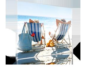 Foto op plexiglas met kerst 1_Voorbeeld met mensen op strand