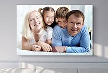 Goedkope familiefoto op canvas