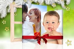 Kerst website foto op canvas cadeau aanzicht