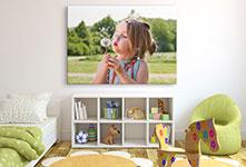 Kinderkamer kind met paardenbloem op canvas