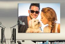 Poster met paar en hond