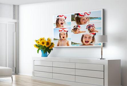 Woonruimte kind op vakantie fotocollage op canvas