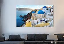 Woonruimte met foto op aluminium van Griekeland