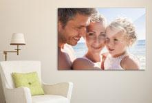 Woonruimtevoorbeeld voor foto canvas met familieportret