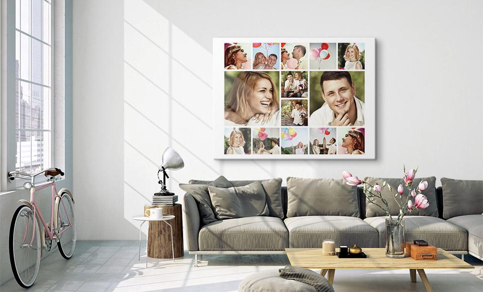 canvas collage woonruimte