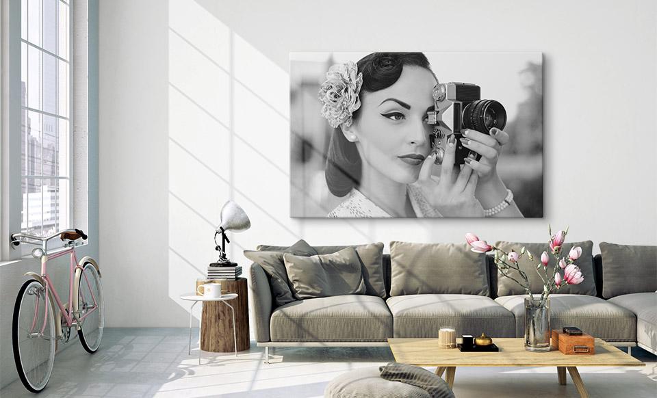 canvas zwart wit woonruimte