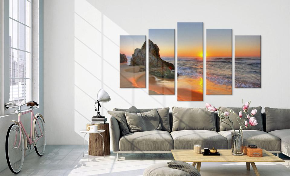 drieluik canvas woonruimte