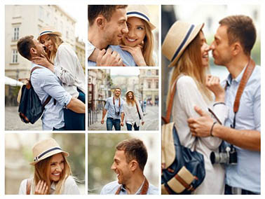 fotocollage op canvas slider